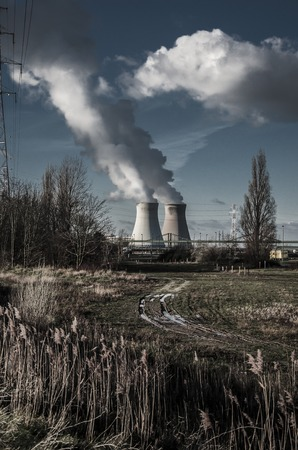 toxicity: Doel Nuclear Power Station in  Antwerp, Belgium