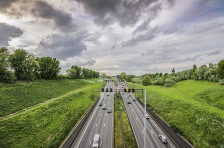 High-speed highway in Antwerpen, Belgium