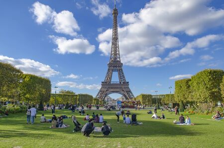 FRANCE, PARIS, OCTOBER, 2018 Eiffel tower in Paris, France
