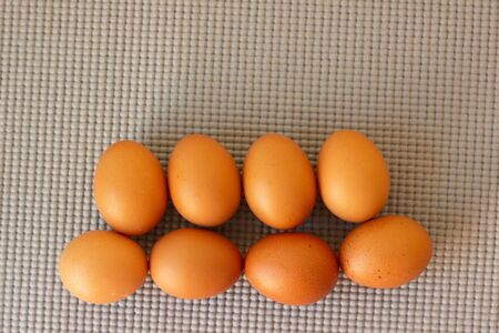 eggs with black dot background