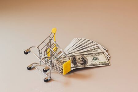 Concept shopping online, Buy and sell at department stores, Online products