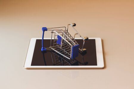 Concept shopping cart, Buy and sell at department stores, Фото со стока