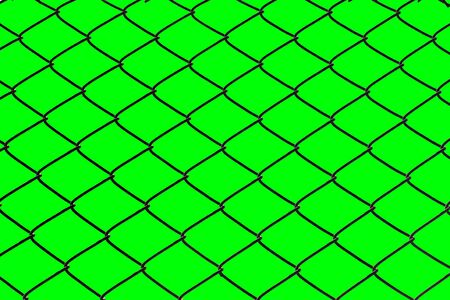 Cage netting and green screen with clipping path