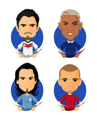 Soccer Player Avatar and Icon Cartoon My Love