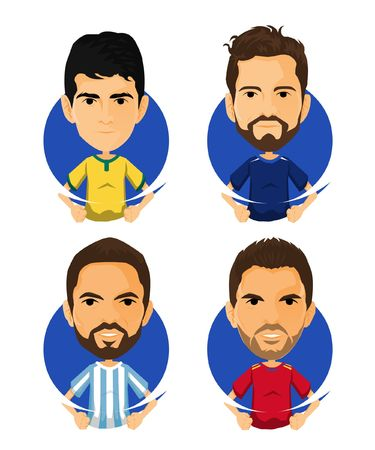 Soccer Player Avatar and Icon Cartoon Darling Illustration