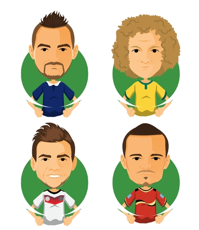 Soccer Player Avatar and Icon Cartoon Uncle