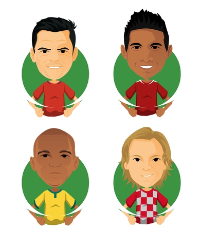 Soccer Player Avatar and Icon Cartoon Sister Illustration