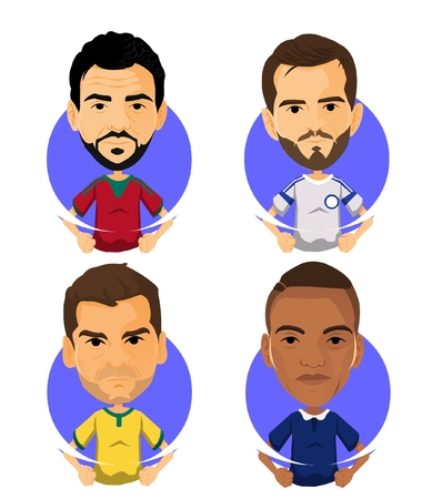 Soccer Player Avatar and Icon Cartoon Milady