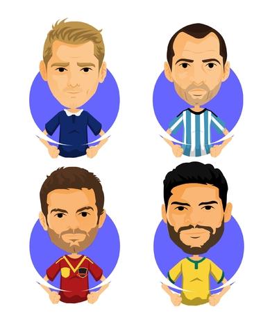 Soccer Player Avatar and Icon Cartoon Milord Reklamní fotografie - 71634908