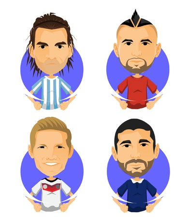 Soccer Player Avatar and Icon Cartoon Brother