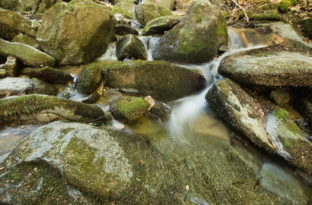 rock creek: stream rocks Stock Photo