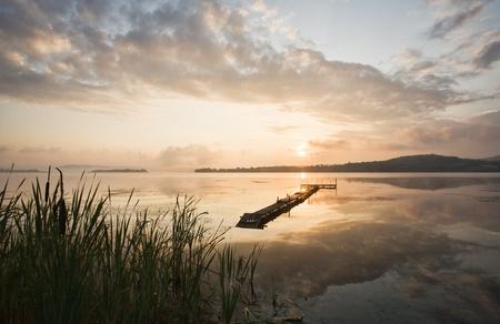 morning to lake photo