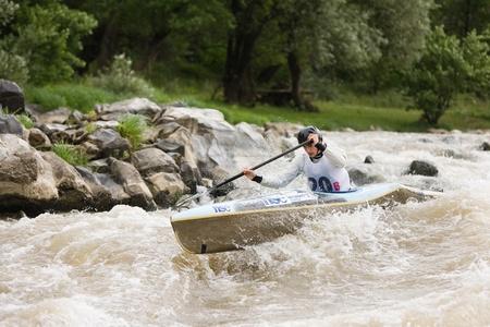 Kraljevo City, Serbia - July 25, 2010 - 8th European Junior Championships in kayak on wild water