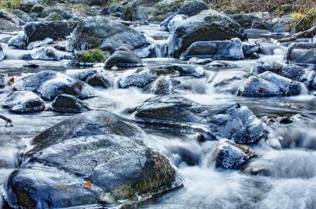 water ice stream Stock Photo