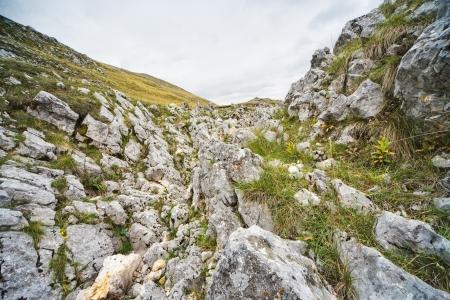 rocks on the mountain photo