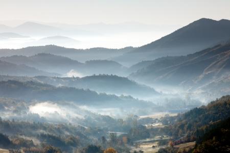 Morning mountain landscape Stock Photo