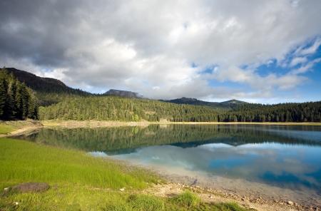Lake in mountain in morning