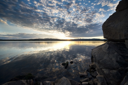 The lake landscape Stock Photo - 17768389