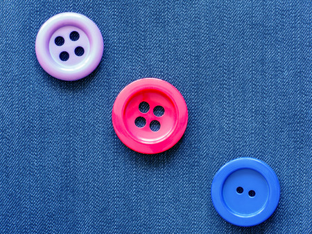 making hole: Sewing buttons