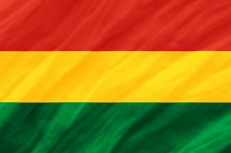 bandera de bolivia: fondo de la bandera ondulaci�n Bolivia Foto de archivo