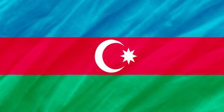 background of ripple azerbajian flag Stock Photo
