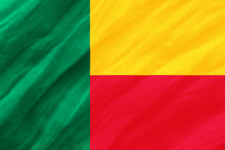 background of ripple Benin flag