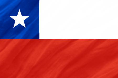bandera de chile: Bandera de Chile  Foto de archivo