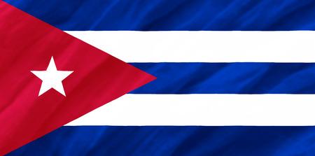 cuba flag: Cuba Flag Stock Photo