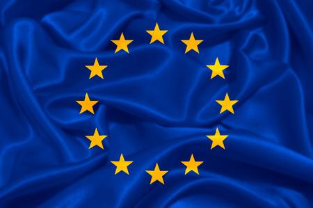 European Union EU Flag Stock Photo