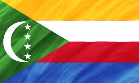 Comoros flag Stock Photo