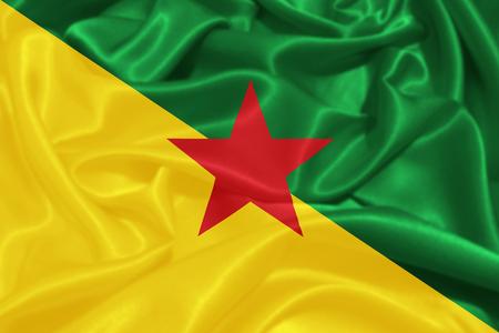french flag: Flag of French Guiana Stock Photo