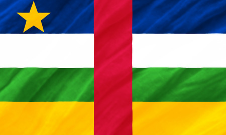 central afrikan republic flag Stock Photo