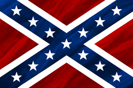 rebel flag: Confederate States of America flag Stock Photo