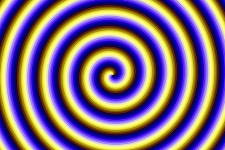 Abstract circular pattern with gradient lines