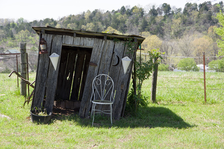 Shed with chair