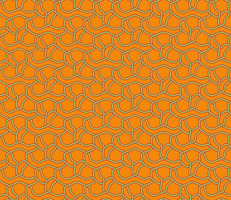 Seamless abstract knot textile pattern. Multicolor modern stylish background cover geometric shapes.