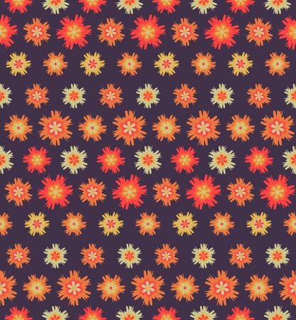 Abstract seamless flower pattern. Background design for prints, textile, fabric, package, cover, greeting cards.
