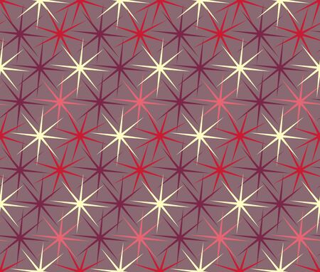 Seamless geometric wallpaper. Mosaic template pattern made of hexagons. For any design purposes.