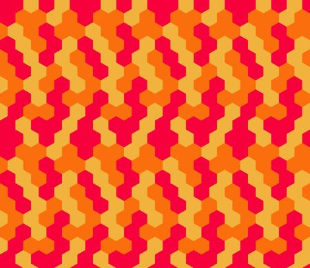 Seamless geometric pattern with hexagons. Textile printing, fabric, package, cover, greeting cards.