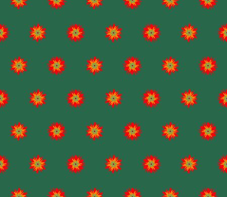 Vector seamless illustration of multicolor flowers pattern. Colored vector background.