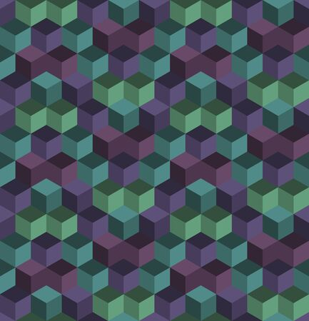 Abstract seamless cube pattern. Background design for prints, textile, fabric, package, cover, greeting cards.