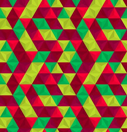 Abstract seamless pattern. Colorful geometric background with triangles. Ilustração