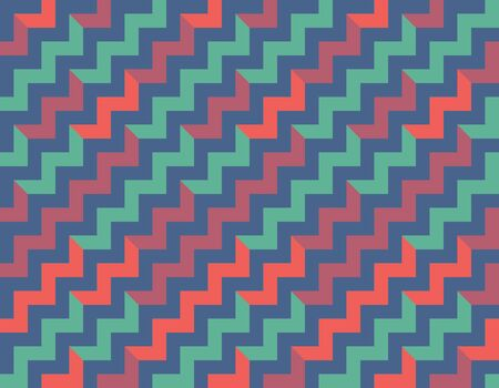 Colorful seamless pattern with zigzags. Low poly geometric background.