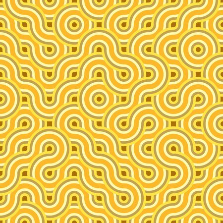 Abstract seamless circling lines pattern. Background design for prints, textile, fabric, package, cover, greeting cards. 矢量图像