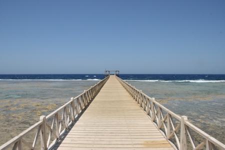 Pontoon on the beach photo