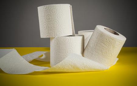 absorbent: Rolls of toilet paper