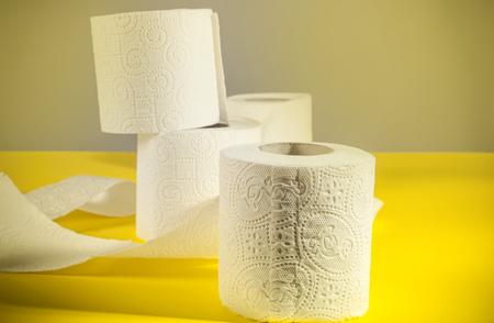 loo: Rolls of toilet paper