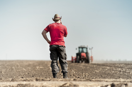 seed drill: Work on field during soy planting time