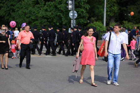 militiaman: Voronezh, Russia - May 9, 2016. Victory Day. The Russian police