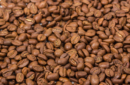 coffee beans as background Stock Photo